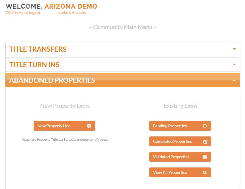Online Title Management Portal